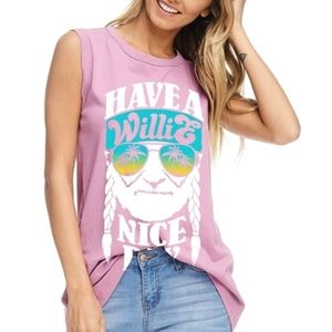 Tops - Have a Willie Nice Day Graphic Tank ❤️